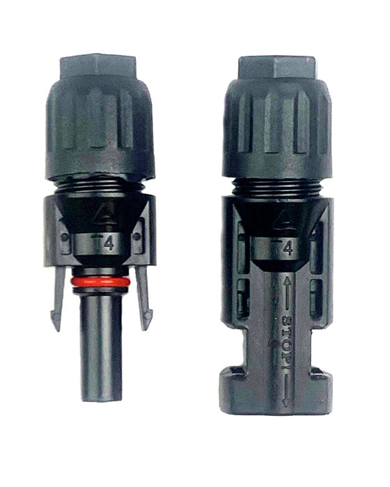 Pair of MC4 connectors