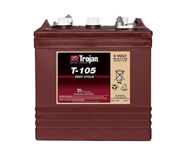 Trojan T-105 6V Deep-Cycle Flooded Battery